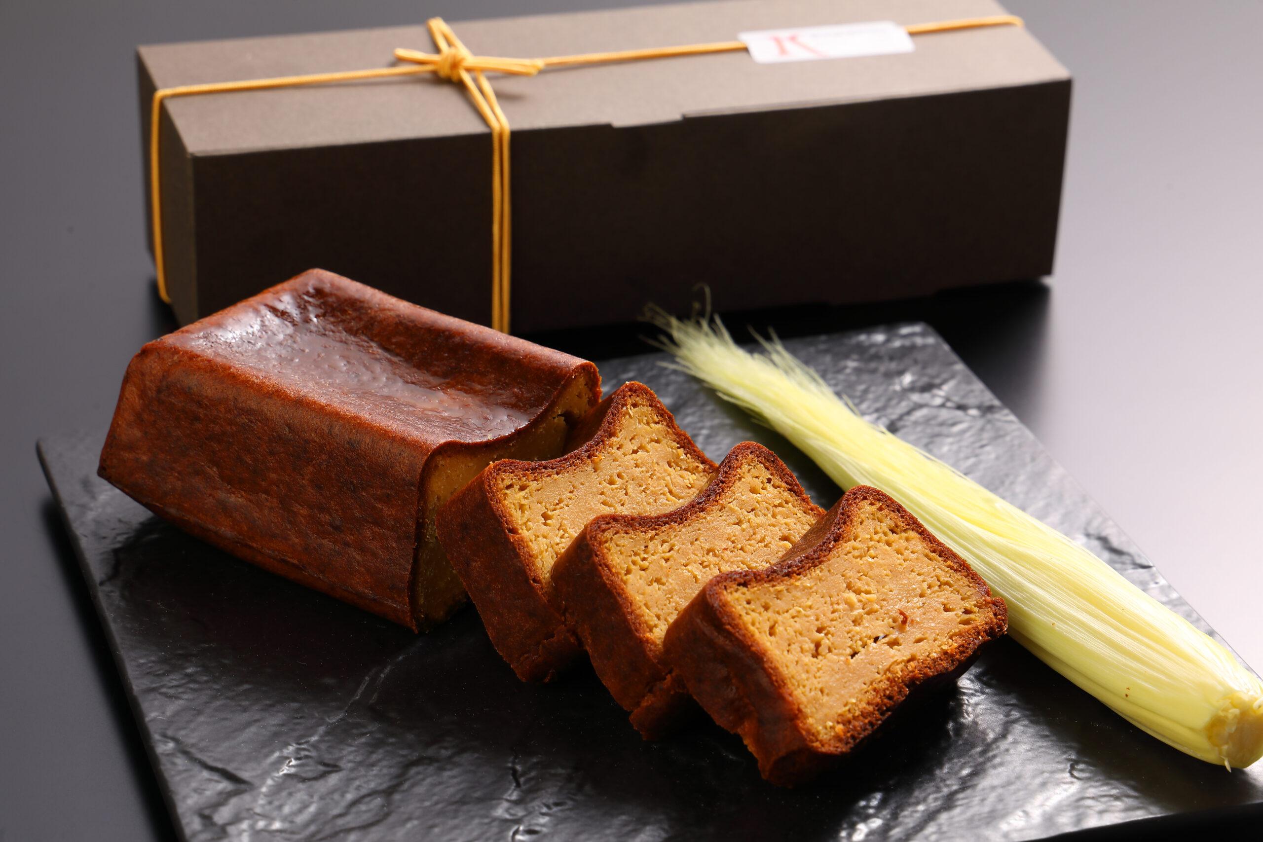 豆乳バニラとトウモロコシのケーキ